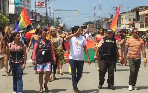 #Ecuador LGBT de cantones rurales realizan desfile por segunda vez diario el diverso (16)