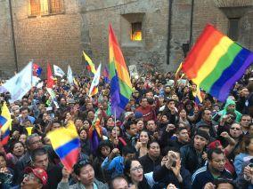 #Ecuador LGBT protestan contra el gobierno de Lenín Moreno en marcha masiva diario el diverso ecuador13
