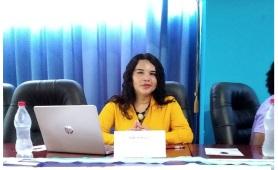 Diane Rodríguez, sobre transfeminismo en foro académico por el día internacional de la mujer ACNUR