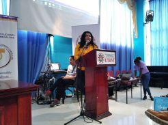 Diane Rodríguez, transexual transfeminista en foro académico por el día internacional de la mujer