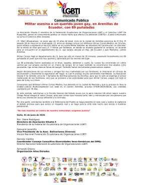 Militar asesina a un querido joven gay, en Arenillas de Ecuador, con 89 puñaladas - Asociación Silueta X - Fedración ecuatoriana de organizaciones LGBT-1